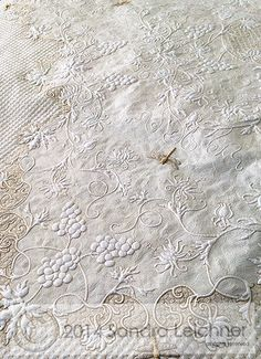 Beautiful quilting all done on a domestic machine.
