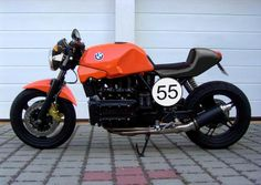 bmw k100 cafe racer, street tracker
