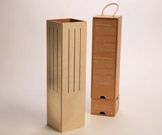 ecological wine wood box recycled lamp