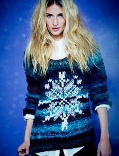 Free People Queen of Snowflakes Pullover. http://www.freepeople.com/queen-of-snowflakes-pullover/_/searchString/queen%20of%20snowflakes/QUERYID/50a12a36575c1f1fcd0000bf/SEARCHPOSITION/0/CMCATEGORYID/683d4023-53f5-4900-b5ce-ecf465df31a9/STYLEID/26364521/productOptionIDs/BEE1C344-4601-4985-97DB-EB5BCFE2AD06