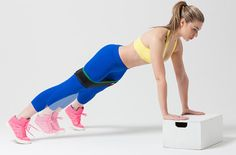 Start in an elevated plank position with feet together. Keeping hips low and abs tight, hop feet out and in like a jumping jack. If you need a break, hold your plank or try some pushups. Repeat for 1 minute and 30 seconds.Chest, Shoulders, Core and Abductors via @stylelist | http://aol.it/1xrlcBn