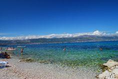 Plaża na wyspie CIOVO -Chorwacja