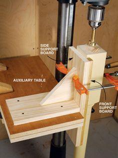 Vertical Drilling Jig - Popular Woodworking Magazine More