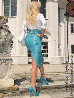 Leather Kingdom Fashion Shop - leather skirt DS-516