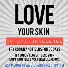New Year and New You! Try my 60 Day Challenge with Rodan+Fields Anti Aging regimen Redifine or get your money back! You can receive 10%OFF and Free Shipping when you contact me at ashleyrossrfconsultant@gmail.com. View products and order at http://www.ashleyrross.myrandf.com