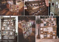 Whether the photos are of the bride and groom, or of lost loved ones, guests love to see photos. Here are some of our favorite ways to display photos!