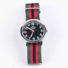 Military Watch Green Red I now featured on Fab.
