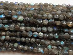 Labradorite Beads Labradorite Faceted Round Coin by gemsforjewels
