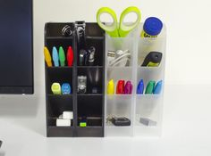 STYLIO Office Desk Organizer - Caddies for Office/ Teacher Supplies & Busines... #Stylio