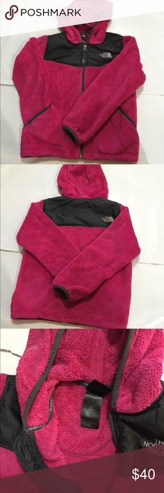 North Face Jacket Hoodie It is a Size Small Girls.  I am open to reasonable offers! And please don't hesitate to ask questions! North Face Jackets & Coats