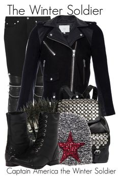 """""""The Winter Soldier // Bethany"""" by bethanybrooks ❤ liked on Polyvore featuring Yves Saint Laurent, IRO, Bullet, Rebecca Minkoff and Naughty Monkey"""