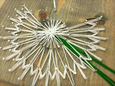 "custom string art dandelion wish flower 12"" x 12"" $30 Complete $24 Nailed Kit includes String"