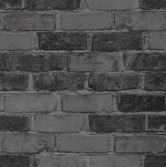 Walls Republic x Faux Running Brick Wallpaper Colour: Slate Faux Brick Wallpaper, Metallic Wallpaper, Embossed Wallpaper, Damask Wallpaper, Wood Wallpaper, Wallpaper Panels, Geometric Wallpaper, Pattern Wallpaper, Joss And Main