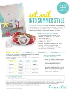 Summer is right around the corner and Origami Owl has a great Hostess Exclusive starting June 1st! Book a jewelry bar to host and it could be yours for free! Like my Facebook page facebook.com/jennifer.burrie or visit my website jenniferrose.OrigamiOwl.com
