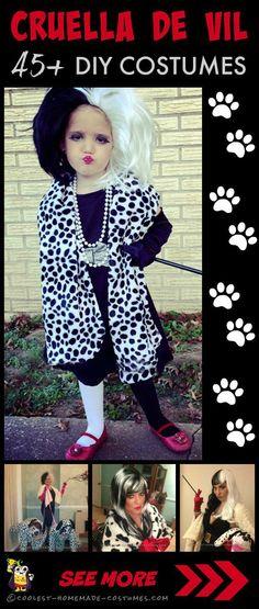 Coolest 101 Dalmatians and Cruella De Vil Homemade Costumes