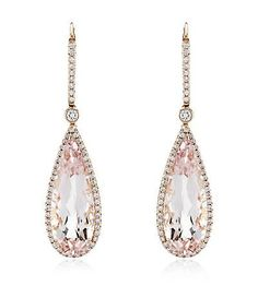 Morganite Opera Earrings
