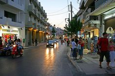 Hersonissos means fun and mass tourism, lovely but busy beaches, a modern town with dozens of shops selling tourist goods, clothes and jewellery, car hire crete companies,  restaurants offering all kinds of food, cafeterias, bars and nightclubs to suit every taste.