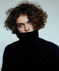 Curly Top | Miles Marsh photographed by Sophie Mayanne| Source: saintlaurent, via shheer