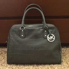 """Authentic Michael Kors satchel Authentic Michael Kors satchel in gray snake print.  100% leather.  Minimal wear on the corners.  Excellent condition and hardly used.  Hate to sell but I like cross body bags more.  5"""" drop handle.  Looks even more beautiful in person. MICHAEL Michael Kors Bags Satchels"""