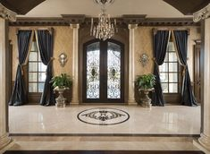 Amazing Foyers by Dallas Design Group | See more : http://www.homeandecoration.com | #homeandecoration #decorationideas #topinteriordesigners
