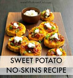 We'll take these sweet potato no-skins over regular potato skins any day of the week!