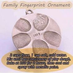 Baby footprints for her fist ornament