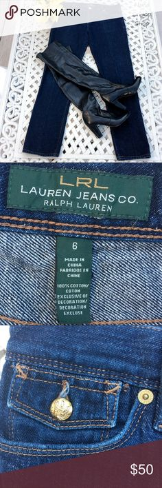EUC Ralph Lauren Boyfriend Straight Leg Jeans Sz 6 Excellent Used Condition  Ralph Lauren Boyfriend Cut Dark Blue Jeans  Straight Leg Gold Buttons  Golden Brown Stitching   Size 6 100% cotton   Able to ship while on vacation. Submit offer for $6 off asking price for 49 cents shipping Ralph Lauren Jeans Straight Leg