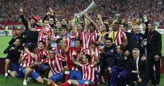 El conjunto del Atletico de Madrid se titula campeón de la UEFA Europa League 2012