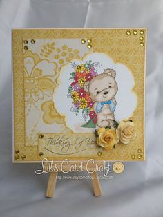 Handmade Card  Thinking of You by LilsCardCraft on Etsy, $8.00