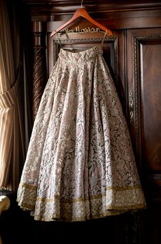 White & Pale Pink Embroidered Sabyasachi #Lehenga. Photography: Salwa.