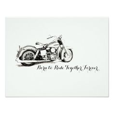 Motorcycle Ride Together Wedding RSVP Card