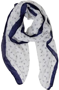Anchor print scarf http://rstyle.me/n/hzydhnyg6