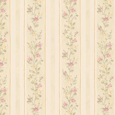 Product Description Andover Miniatures413-66334 -Emily Floral Stripe Wallpaper in Green, Pink and Tan. This wall accent is a charming alternative choice for a stripe floral pattern when decorating y