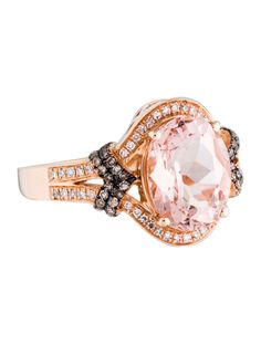 Alexander Laut Light Green Diamond Ring with Pink & White Diamonds xlKnoDC