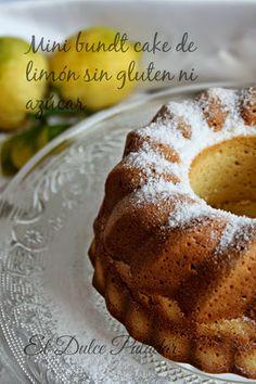 Mini bundt cake de limón sin glúten ni azúcar