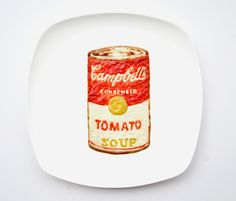 Campbell's tomato soup! ...made of ketchup, mayonnaise, mustard and oyster sauce! /  By Malaysian artist Hong Yi (red).