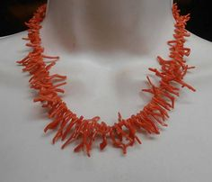 Red Branch Coral Necklace Natural Graduated 16.5 Long