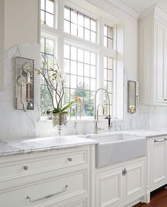 Mirrored sconces in