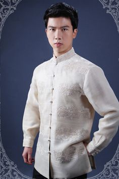 a Barong Tagalog Wedding, Barong Wedding, Filipiniana Wedding Theme, Wedding Outfits For Groom, Wedding Men, Wedding Dress, Filipino Wedding, Filipino Fashion, Filipino Culture