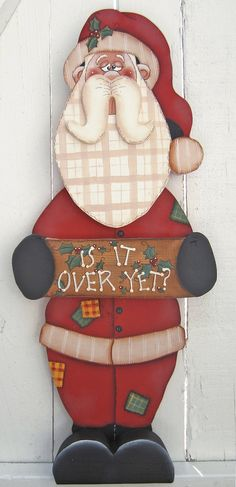 He encontrado este interesante anuncio de Etsy en https://www.etsy.com/mx/listing/237897823/santa-decor-santa-sign-christmas-wood