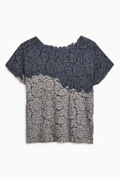 Buy Grey Lace Tee from the Next UK online shop