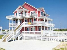Fire Island, 7 bedroom Semi-Sound Front home in Salvo, OBX, NC