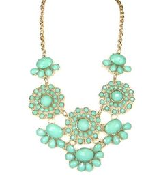 FASHION GORGEOUS TRENDY FUN SUMMER SPRING VINTAGE FLORAL BEADED STATEMENT NECKLACE by shopluvmeTake for me to see FASHION