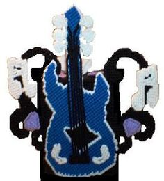 PDF format Plastic Canvas Musical Guitar Tissue by kathybarwick, $4.50