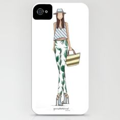 Tropics Fashion Illustration iPhone 6 Case Tropics phone case illustrated by local fashion illustrator. A hard silicone case that gives your device protection on the front and back from falls, while also maintaining a slim profile. Pictured to the right with the black edging.  Available for iphone 6. Accessories Phone Cases