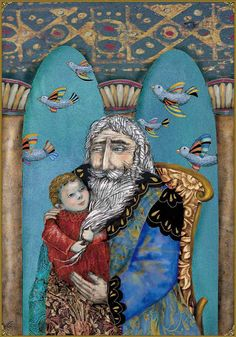 Jesus in the Temple with Simeon   The life of Jesus illustrated by Nerina Canzi