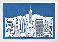miss red fox: New York Papercut