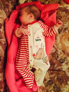 Sleeping beauty in her first xmas