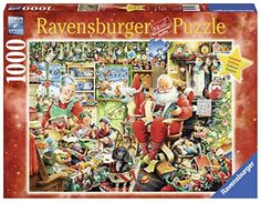 The best Christmas jigsaw puzzles are ones your family will actually finish!  I have many fond memories of sitting by the fireplace doing a holiday jigsaw puzzle with my sister and uncles. Christmas jigsaw puzzles are great for bringing people together     also can be found under  Christmas Jigsaw Puzzles  Puzzles for Christmas  Shaped jigsaw puzzles    Ravensburger Santa's Final Preparations Puzzle (1000 Piece)