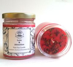 Love & Attraction Soy Candle for Romance, Commitment & Relationships
